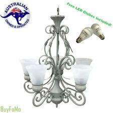 Vintage Chandelier Traditional 5 Light Pendant Ceiling Light + Free LED Globes!