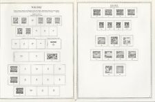 Nauru 1916 to 1984 Minkus One-Sided Specialty Pages, 24 Pages
