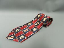 Vintage Looney Tunes Taz Character Golfing Tie Red Blue Gift