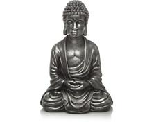 Ornamento de Cabeza de Buda Resina Plata 25x17x12 cm Decorativo Nuevo