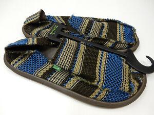 Sanuk Mens Sidewalk Surfers Yew-Knit Blue Size 9