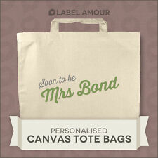 Personalised Name Favour Wedding Gift Canvas Tote Bag | Soon to Be Mrs | 3 Sizes Navy 250 X 280mm