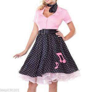 Ladies Fancy Dress Costume Cheerleader 50's Poodle Skirt Hen Party Halloween