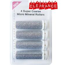 4 x Super Coarse Micro Mineral Replacement Rollers for Emjoi Micro Pedi BNIB