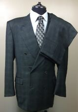 Men's CANALI 56L(Label) Double Breast Jacket 34x32 Pant Suit100% Wool Holt Renf.