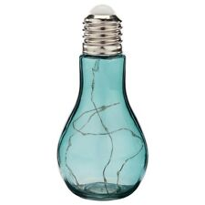 Decorative Lightbulb Shaped LED Lamp With 10 Leds Lights Inside-Teal/Blue