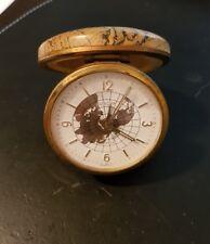 Antica Sveglia Orologio tascabile da viaggio Europa 2 Jewels Vintage