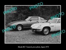 OLD POSTCARD SIZE PHOTO OF THE NEW MAZDA RX7 LAUNCH JAPAN 1979