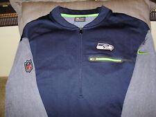 d008ba41 NFL Seattle Seahawks Nike Dri-Fit Coaches Circuit 1/2 Zip Golf Jacket Men's