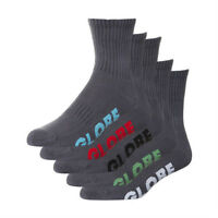 Globe Socks 5 Pack Stealth Crew Grey Size 7-11 Skateboard Sox