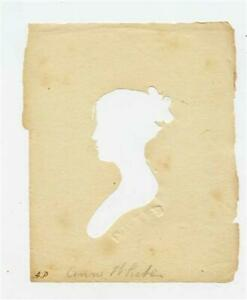 Peale's Museum Hollow Cut Silhouette of a Woman 1800's