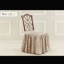 Sure Fit Home Décor pen pal Dining Room Chair  skirt cover tan beige