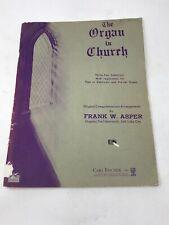 The Organ in Church 32 Sheet Music Songs by Frank Asper Mormon Tabernacle VTG