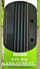 Trex Deck 36 Inch Rail Kit (BLACK) 6 Foot Long Horizontal Railings 15 Balusters