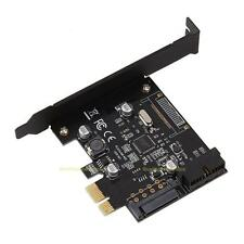 PCI-E Express ASMeda USB 3.0 19 pin Connector and 15-pin SATA Power Adapter Card