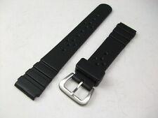 Seiko Genuine 18mm Rubber Band DAL5 Black Urethane Strap for Vintage Diver