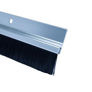 Türdichtung 1 Meter Türbodendichtung Bürstendichtung Tür Bürste Alu PVC 2 stück