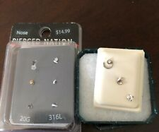 Used Nose Rings 7 New Never