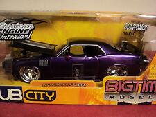 "Jada 1970 Plymouth ""Hemi "" Cuda 1/24 scale NIB 2005 release Purple exterior"