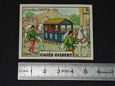 CHROMO 1936 CAFES GILBERT MOYENS DE TRANSPORT A TRAVERS LES AGES LITIERE XIVe