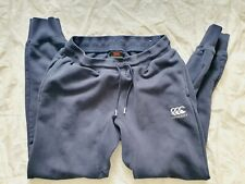 Canterbury Tapered Fleece Joggers Jogging Bottoms Cuffed - Size Large - Navy
