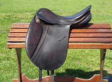 "STUBBEN Tristan DL dressage saddle WOOL 18"" 17.5"", 29 tree DARK BROWN"