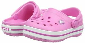 Crocs Kid's Crocband Clog | Slip On Water Shoe for, Party Pink, Size 1.0 stxD