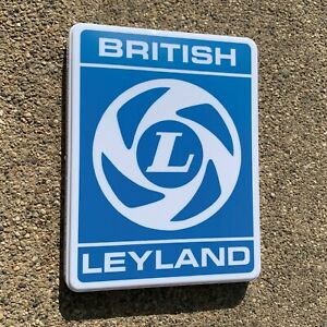 BRITISH LEYLAND ILLUMINATED LED LIGHT BOX WALL SIGN GARAGE GAS OIL RANGE ROVER