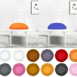 Thickened Elastic Stretch Round Dining Chair Covers Removable Seat Slipcover ovo