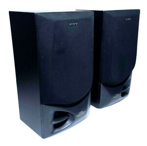 Sony SS-D560 Set Of 2 Twin Duct 3 Way Speakers W Bass Reflex Tested & Work Great