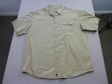 067 MENS NWOT RIP CURL OLIVE S/S SHIRT XL $80 RRP.