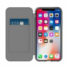 Genuine Incipio Wallet Card Flip Folio Case Cover For iPhone XS & X Black Clear