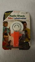Vintage Radio Shack Mini Label Maker & Tape Tandy Collectible 1971 Cat 68-1020