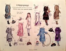 Vintage Pat Stall Paper Doll, Earnestine, A Child of 1879, From 1983 Uncut