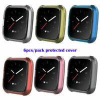 For Fitbit Versa Lite Watch 6PC/Pack TPU Shell Case Screen Protector Frame Cover