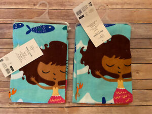Mainstays Set Of 2 New!! Mermaid Beach Towels 28 X 60