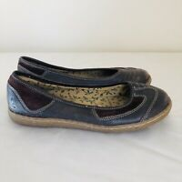 Hush Puppies Harmony Recycled Brown Leather Slip On Flats Size 4 B18