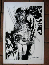 Winter Sale! Tim Vigil Jason Crager Original Art Faust vs Calvera  Pinup