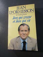 BEL ENVOI JEAN D'ORMESSON-JEAN QUI GROGNE JEAN QUI RIT- 1984-ÉDITION ORIGINALE