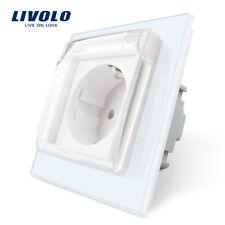 Livolo EU Standard Power Waterproof Cover Socket Wall Power Socket White color
