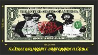 CREEDENCE CLEARWATER REVIVAL (2) IMAN BILLETE 1 DOLLAR BILL MAGNET