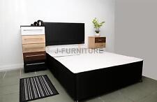 5ft King Size Black Divan Base with Jumbo Draw and Headboard BEST PRICE! SALE!