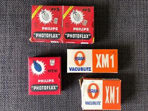 Konvolut Blitzbirnen Blitzlampen Flash Bulb, Philips Photolux, Osram Vacublitz