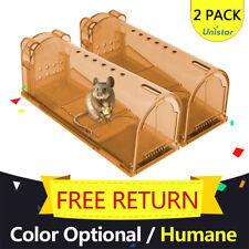 Live Catch Mouse Trap Humane Rat Trap Reset Pest Zapper No Kill Rodent US 2pack