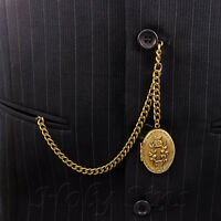 Brand New Bronze Single Albert Pocket Watch Fob Chain With Locket