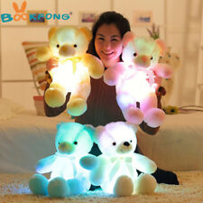 Pink 50cm Light Up Stuffed LED Leddy Teddy Bear Plush Toy Night Glow Gift-New