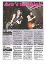 ACE FREHLEY'S COMET (KISS) live in Oakland review UK ARTICLE / clipping
