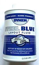 Dykem Steel Blue Layoutstaining Fluid 8oz Brush In Cap 80400