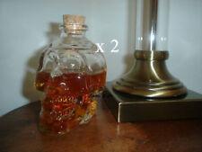 Set di 2 SKULL TESTA BOTTIGLIA DECANTER Whisky Vodka Vino in Vetro Cristallo Bicchiere Da Shot