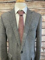 Brooks Brothers Fitzgerald Gray Sport Coat Jacket w/ e Thomas Wool Cashmere 44R